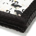 Babydecke Moonlight Swan - Black
